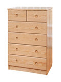 Wooden chest of drawers, with cl Royalty Free Stock Images