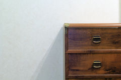 Wooden chest of drawers Stock Photography