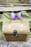 Wooden chest Stock Photography