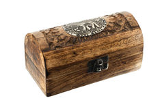 Wooden chest locked Stock Images