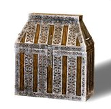 Wooden chest with metal finish Stock Images
