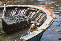 Wooden Chest On A Rusty Old Ship Stock Image