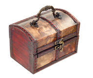 Wooden chest in retro style closed Stock Images