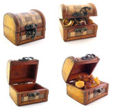 Wooden chests in set Royalty Free Stock Photo