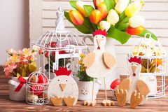 Wooden chicken Royalty Free Stock Photos
