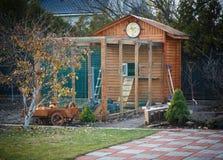Wooden chicken coop Stock Photo