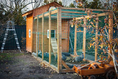 Wooden chicken coop Royalty Free Stock Photo