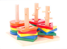 Wooden child toy Royalty Free Stock Image