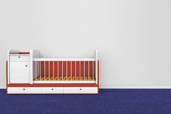 Wooden children bed Stock Photo