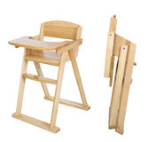 Wooden children dinning chair with path for easy selection Royalty Free Stock Photos