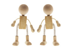 Wooden Children Figures Stock Photo