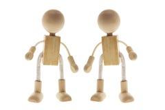 Wooden Children Figures Stock Photo