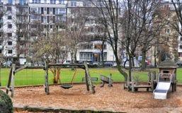 Wooden childrens Playground Stock Photos