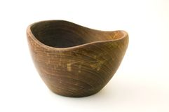 Wooden chineese bowl Stock Photos