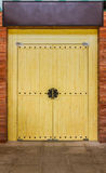 Wooden of chinese door on background. Royalty Free Stock Photography