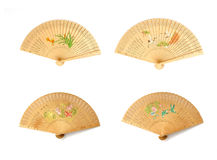 Wooden Chinese fan Stock Images