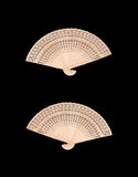 Wooden chinese fan Stock Image