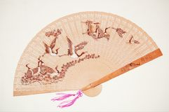 Wooden chinese fan Royalty Free Stock Photography