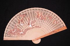 WOODEN CHINESE FAN Stock Photos