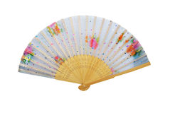 Wooden chinese hand fan. Stock Image