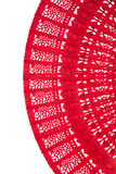 Wooden chinese red fan Stock Photography