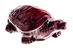 Wooden chinese tortoise over white Royalty Free Stock Photos
