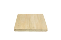 Wooden chopping block isolated. Wooden chopping Board isolated on white background Stock Images
