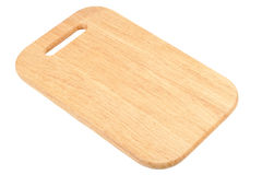 Wooden chopping board stock photo