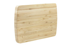 Wooden chopping board, isolated on white Royalty Free Stock Image
