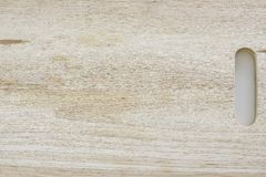 Wooden Chopping Board Isolated on White Stock Photography