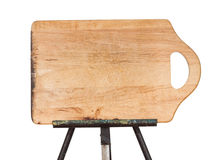 Wooden chopping board on metal easel Stock Photography
