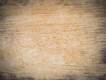 Wooden chopping board with scored surface texture Stock Photo