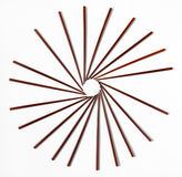 Wooden Chopstick Pinwheel Royalty Free Stock Photography