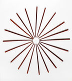 Wooden Chopstick Wheel Stock Photography