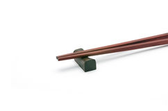 Wooden chopsticks isolated Stock Image