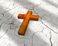 Wooden chrisitian cross Stock Photography