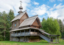Wooden Christian Church of the Transfiguration (Ascension) Royalty Free Stock Photography