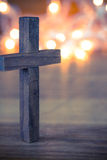 Wooden Christian Cross stock photo