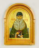 Wooden christian icon on white background royalty free illustration