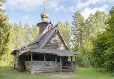 Wooden Christian Znamenskaya Church from 1732 year Stock Photography