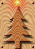 Wooden Christmas. Illustration of a Christmas tree done of wood Royalty Free Stock Photo