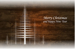 Wooden christmas background Stock Photos