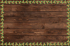 Wooden Christmas background Royalty Free Stock Photo