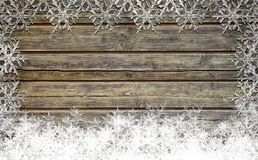 Wooden Christmas background Stock Photography