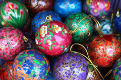wooden christmas ball in stock Stock Photos