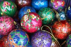 Wooden christmas ball in stock Stock Photos