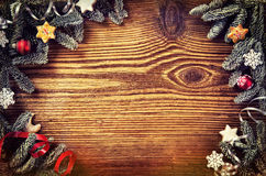 Wooden Christmas Board Stock Image