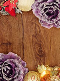 Wooden Christmas Card Royalty Free Stock Image