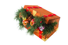 Wooden Christmas crate Stock Image