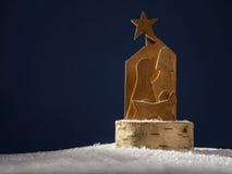 Wooden Christmas crib royalty free stock photos